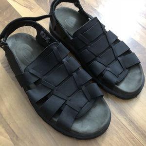 Men's Size 13 M Rockport Black Leather Sandals